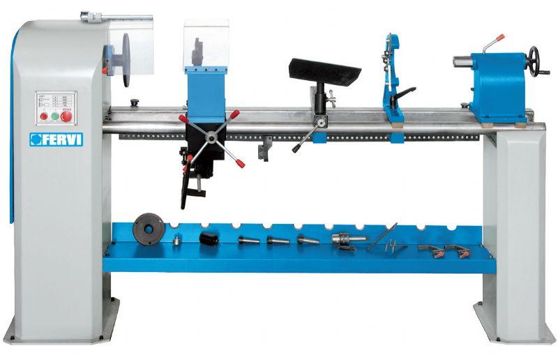 Tornio fervi 0796 per legno con copiatore e accessori nuovo for Tornio per legno con copiatore usato