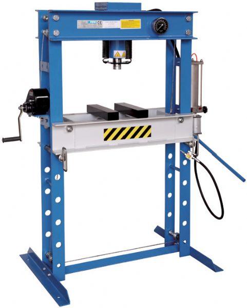 Pressa idraulica manuale e pneumatica p001 45 presse for Pressa idraulica manuale