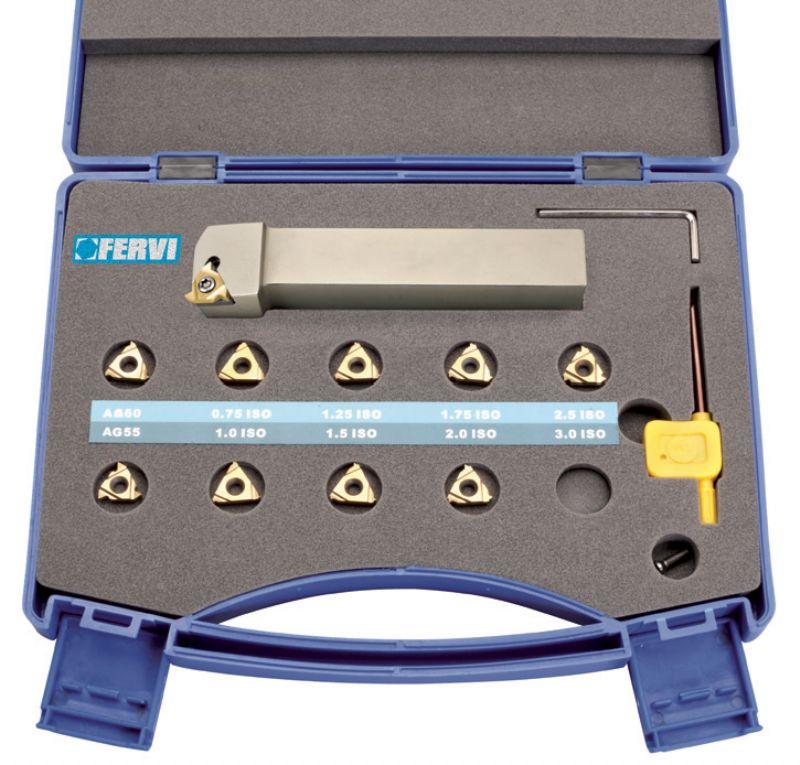 Kit set utensile per tornio filettatura per esterno mm 20 for Kit tornio
