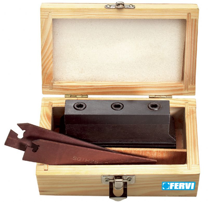 Fervi t091 set kit utensili lame da taglio per tornio for Kit tornio