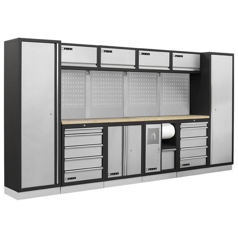Arredamento modulare per officina a007b mobili da for Piani porta garage gratuiti