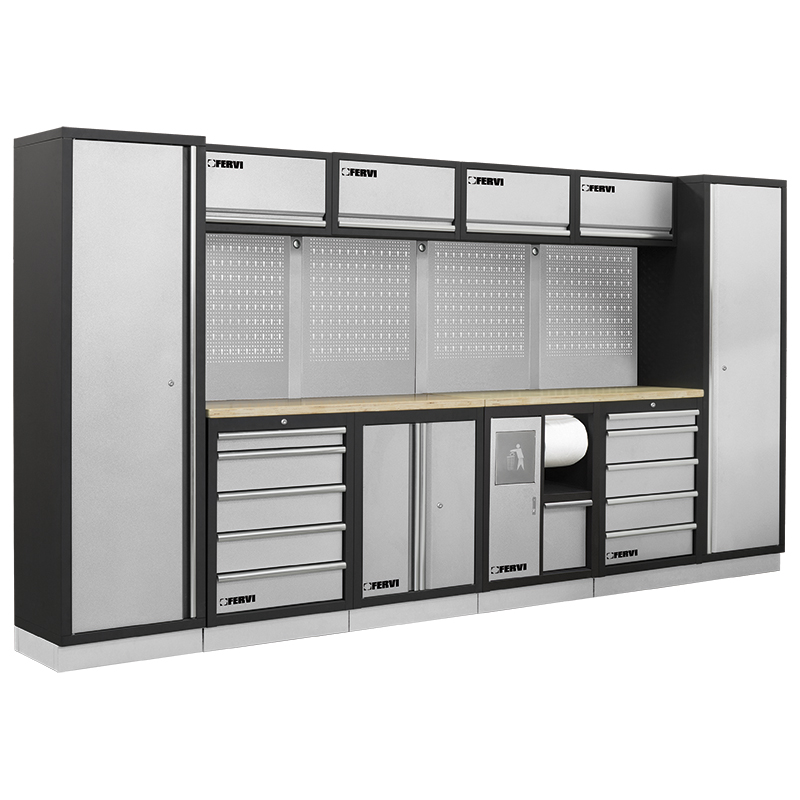 Arredamento modulare per officina a007b mobili da for Arredamento per garage