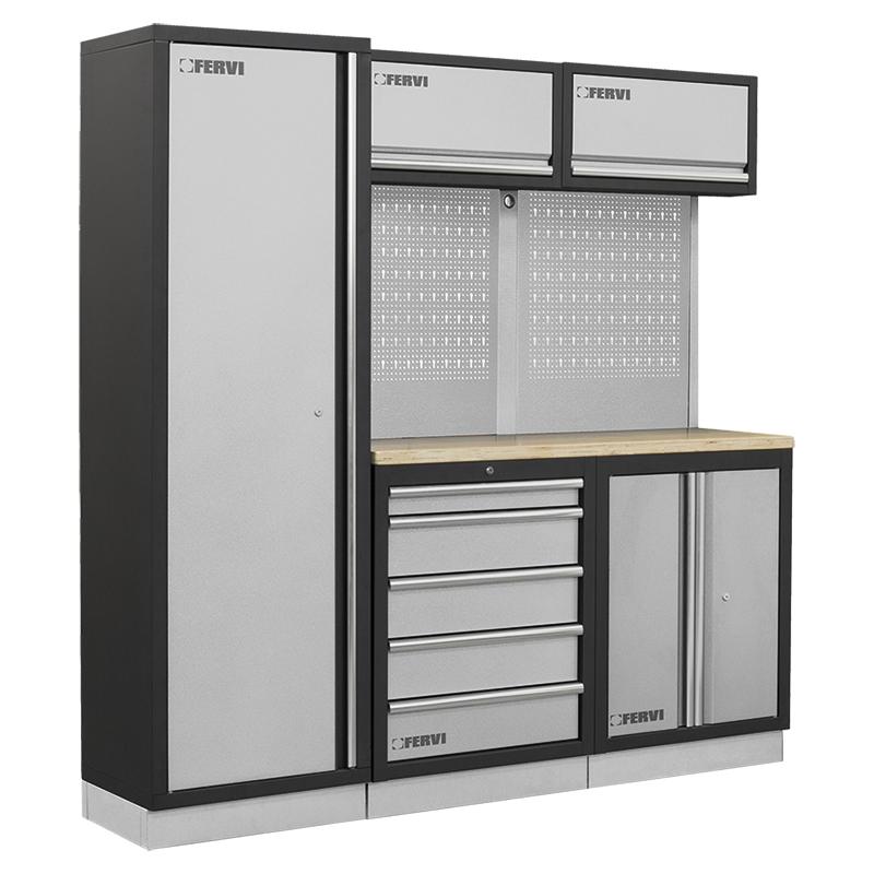 Arredamento modulare per officina a007c mobili da for Piani di garage rv con officina