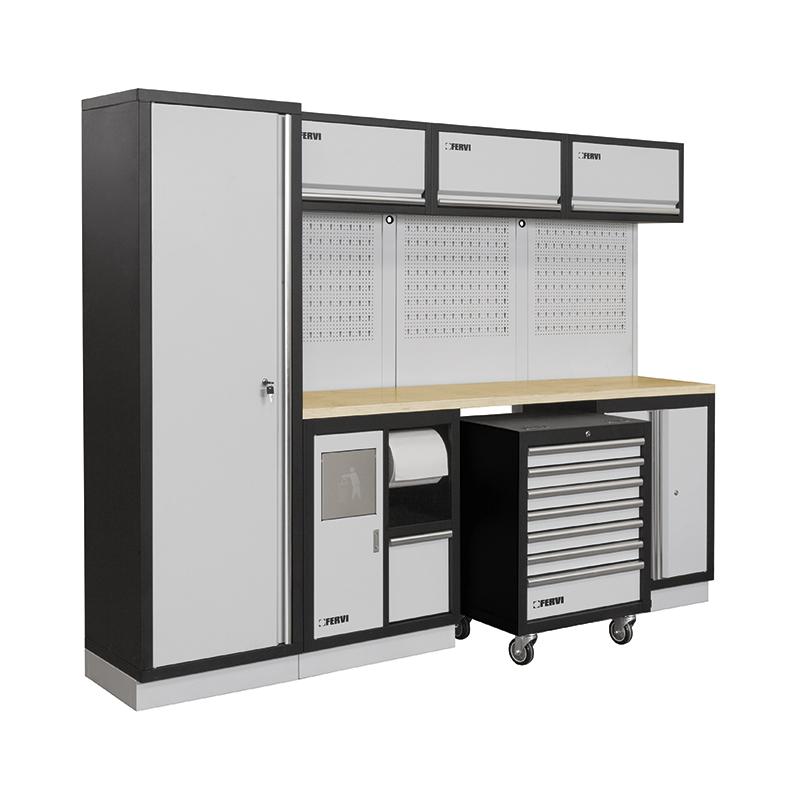 Arredamento modulare per officina a007e mobili da for Arredamento per garage