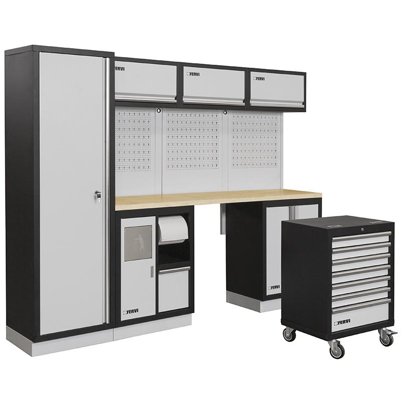 Arredamento modulare per officina a007e mobili da for Carrello portalegna da arredamento