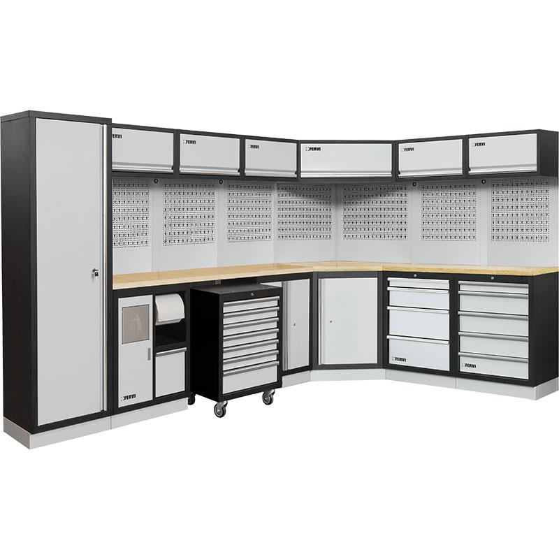 Arredamento modulare per officina a007h mobili da for Piani di garage rv con officina