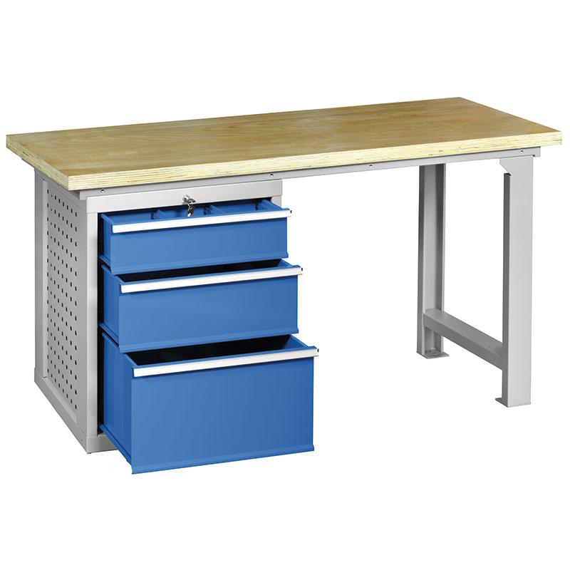 Banco da lavoro in kit di montaggio b016 banchi da - Tavolo da lavoro con ruote ...