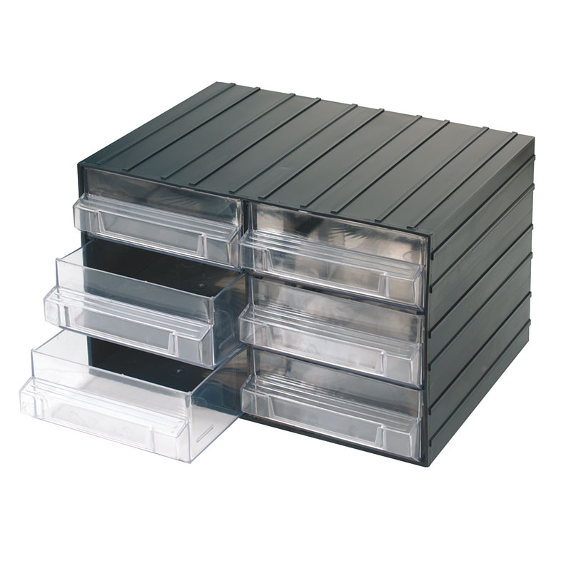 Cassettiere E Contenitori Di Plastica.Cassettiere Con Cassetti Estraibili Trasparenti C080 6