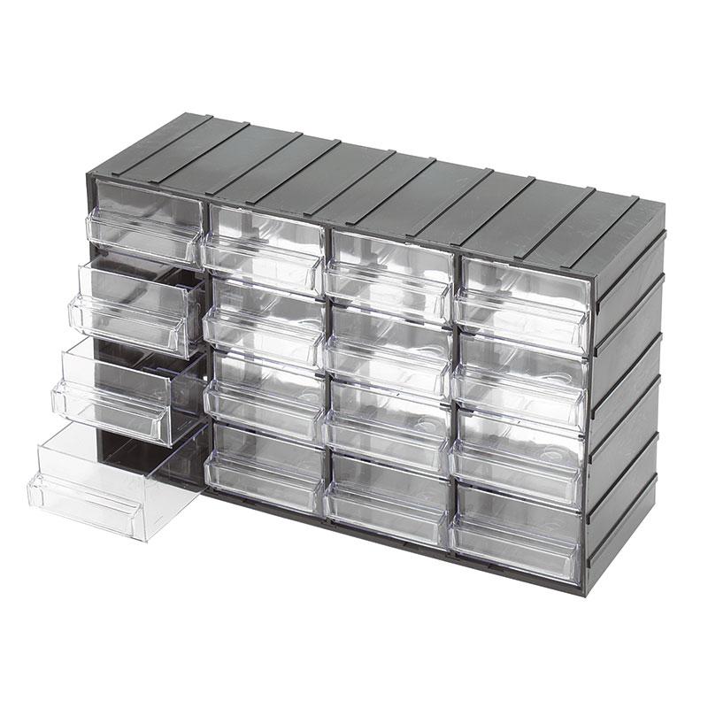 Cassettiere E Contenitori Di Plastica.Cassettiere Con Cassetti Estraibili Trasparenti C085 16