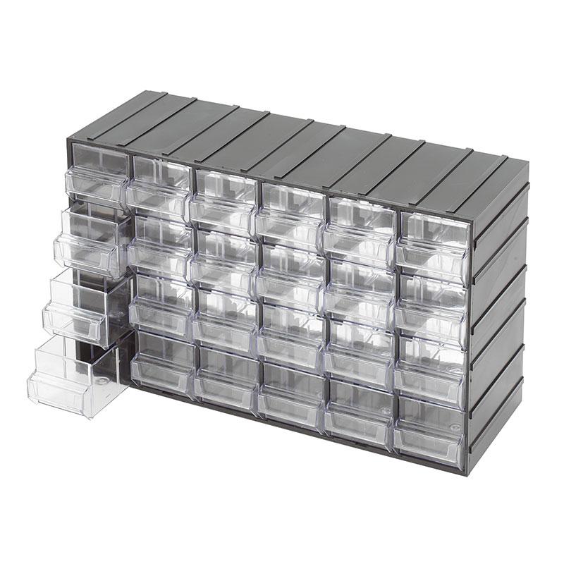 Cassettiere E Contenitori Di Plastica.Cassettiere Con Cassetti Estraibili Trasparenti C085 24
