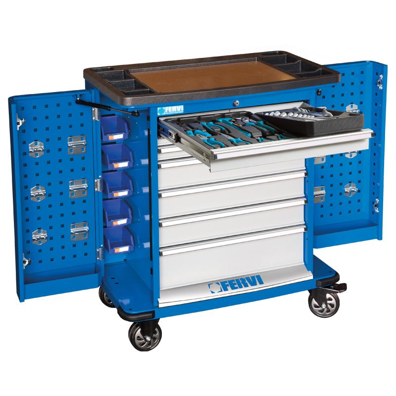Carrello completo di utensili c980 cc01 cassettiere for Carrello portalegna da arredamento