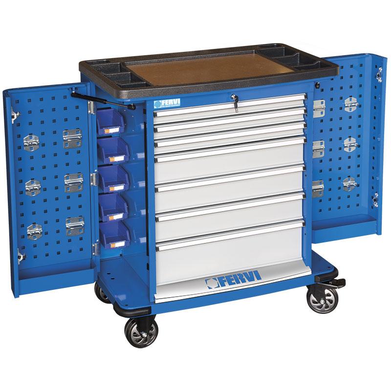 Carrello porta utensili c980 cassettiere carrelli for Carrello portalegna da arredamento
