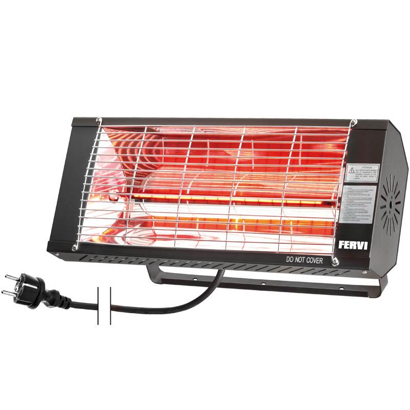 T4W.it - Riscaldatore elettrico a raggi infrarossi con supporto per fissaggio a